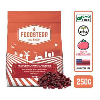 Foodsterr USA Reduced Sugar Sweetened Dried Cranberries