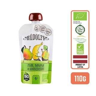 Rudolfs Puree Organic Pear Banana & Gooseberry