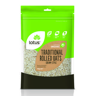 Lotus Organic Creamy Style Rolled Oats
