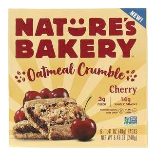 Nature's Bakery Oatmeal Crumble Bars Cherry
