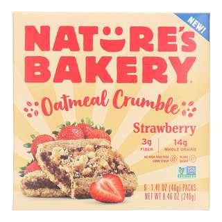 Nature's Bakery Oatmeal Crumble Bars Strawberry