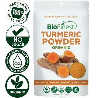 Biofinest Turmeric Powder - Raw Organic Pure Superfood