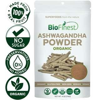 Biofinest Ashwagandha Powder - Raw Organic Pure Superfood