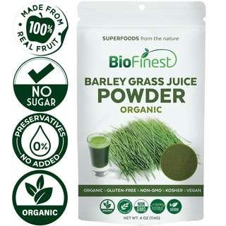 Biofinest Barley Grass Juice Powder - Organic Superfood