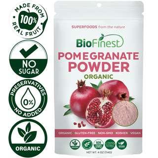 Biofinest Pomegranate Juice Powder - Organic Pure Superfood