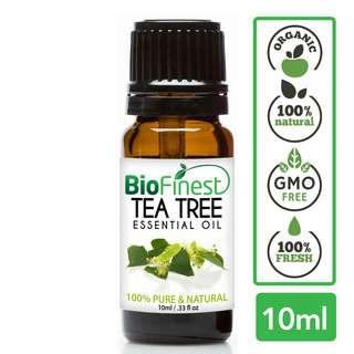 Biofinest Tea Tree Essential Oil - Organic Pure Undiluted