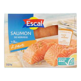 Escal Norway Salmon Sirloin Skinless Vacuum Pack - By Culina