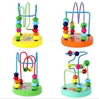 VIP Colorful Wooden Mini Bead Wire Maze