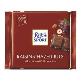 Ritter Sport - Raisins & Hazelnuts x 12