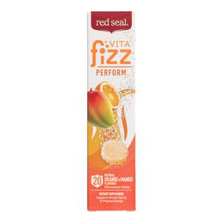 Red Seal VitaFizz Effervescent Tablets Perform Orange and Mango Vitamin B+C