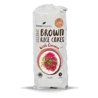 Ceres Organics Brown Rice Cakes with Quinoa