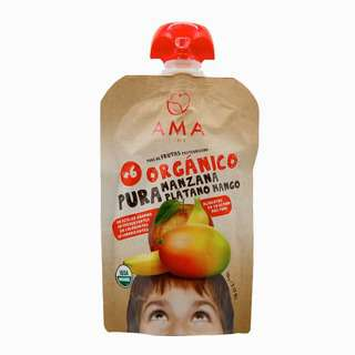 AMA TIME Organic Fruit Pouch Apple&Banana& Mango 90G