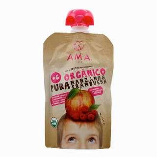 AMA TIME Organic Fruit Pouch Apple & Raspberry 90G