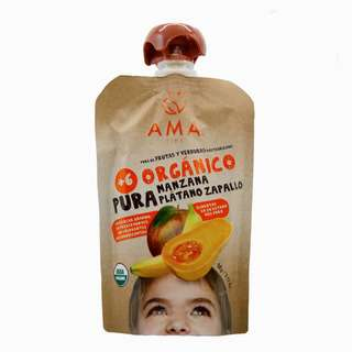 AMA TIME Organic Fruit Pouch Apple, Banana & Butternut 90G