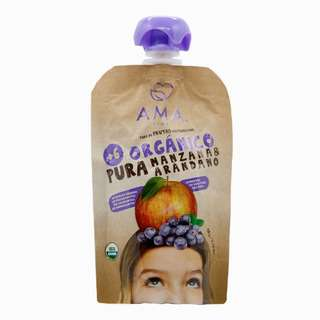 AMA TIME Organic Fruit Pouch Apple & Blueberry 90G