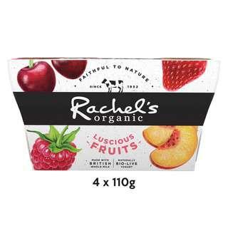 Rachel's Organic Luscious Fruits Straw/Rasp/Cherry/Peach Yoghurt