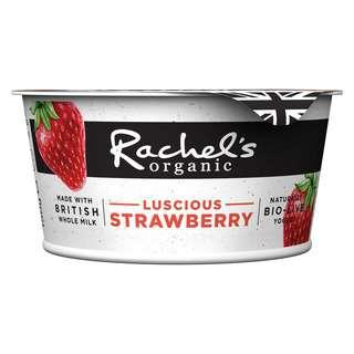 Rachel's Organic Creamy Forbidden Fruits Strawb Bio-Live Yoghurt