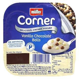 Muller Crunch Corner Vanilla Chocolate Balls