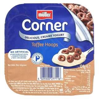 Muller Crunch Corner Toffee Yoghurt With Chocolate Hoops
