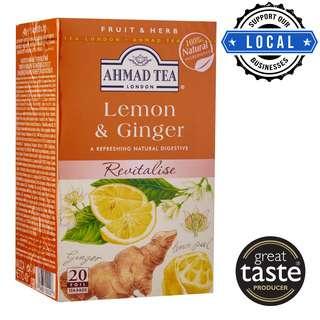 Ahmad TeaBag - 100% Natural Lemon & Ginger Infusion