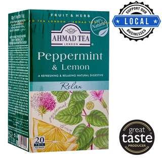 Ahmad TeaBag - 100% Natural Peppermint & Lemon Infusion