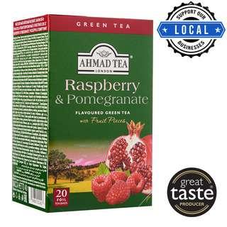 Ahmad TeaBag - Raspberry & Pomegranate Green Tea