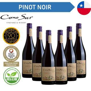 Cono Sur Organic Pinot Noir - Red Wine - Case