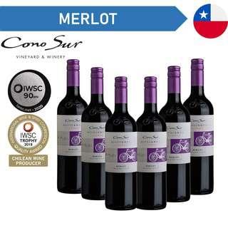 Cono Sur Bicicleta Reserva Merlot - Red Wine - Case
