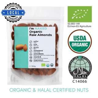 NAKED Organic Raw Almonds