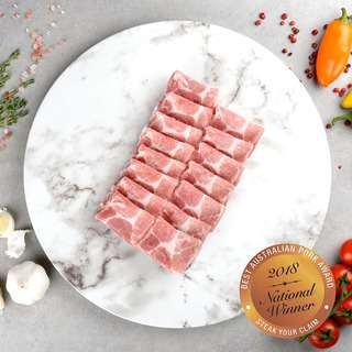 Borrowdale Free Range Pork Collar Shabu Shabu - Australia(Frozen)