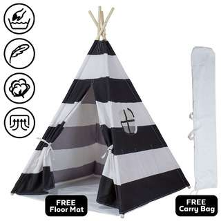 ToddlerFinest Kids Children Teepee Camping Tent (Black)