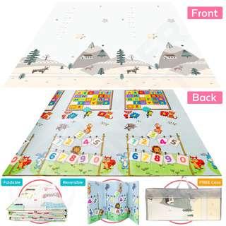 ToddlerFinest Foldable Baby Play Mat Reversible Playmat (De)