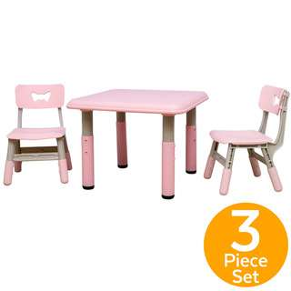 ToddlerFinest Adjustable Height Kids Table 2 Chairs Set (P)
