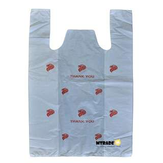 MTRADE Medium White Plastic Bag with Print Value Pack