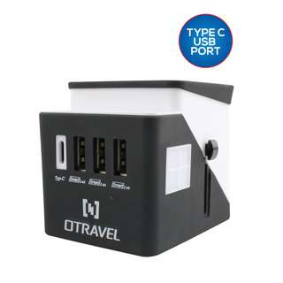 PowerPac Multi Travel Adapter 3x USB + 1 Type C Charger PP7980