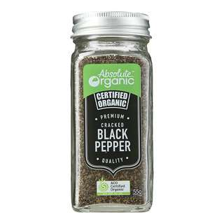 Absolute Organic Cracked Pepper Black