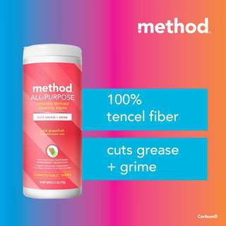 method all-purpose cleaning wipes - pink grapefruit