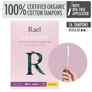 Rael Tampons with BPA-free Applicator - Regular
