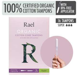 Rael Tampons with BPA-free Applicator - Super