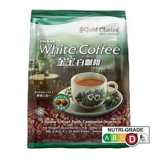 GOLD CHOICE INSTANT HAZELNUT WHITE COFFEE 40G X 15