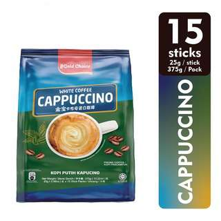 GOLD CHOICE INSTANT CAPPUCCINO WHITE COFFEE 25G X 15
