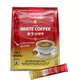 GOLD CHOICE UNSWEETENED WHITE COFFEE 25G X 15