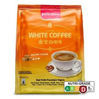 GOLD CHOICE WHITE COFFEE WITH BROWN SUGAR 35G X 15