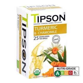 Tipson Caffeine-Free Organic Turmeric & Camomile Herbal Infusions