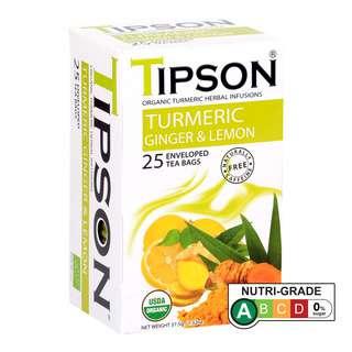 Tipson Caffeine-Free Organic Turmeric Ginger & Lemon