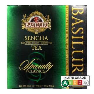 BASILUR SENCHA GREEN TEA 100 TEA BAGS