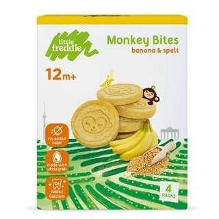 Little Freddie Monkey Bites Banana & Spelt Biscuits