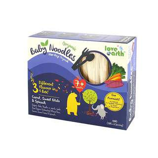 LE Organic Baby Noodles - Carrot, Sweet Potatoes, Spinach