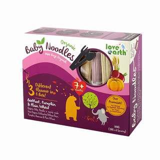 LE Organic Baby Noodles - Wheat, Pumpkin, Beetroot