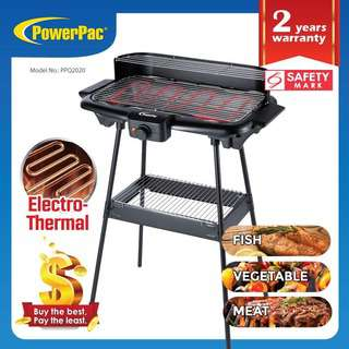 PowerPac Electric BBQ Barbecue Grill PPQ2020